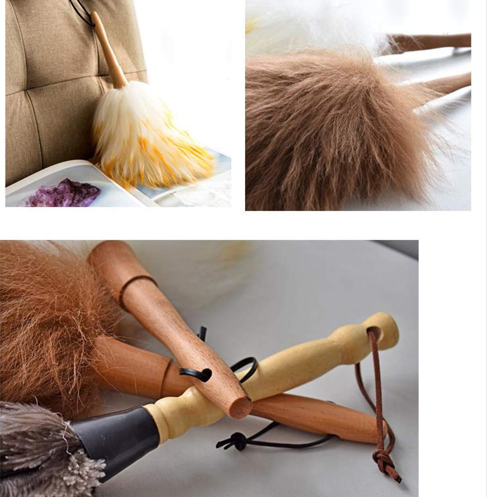 ZHANGY Computer Devices Telephone Kitchen Cleaning Brush,Feather Cleaning Duster Computer Screens, Keyboards, Plant Leaves, dashboards,Wool by ZHANGY (Image #2)