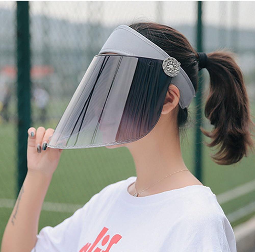 YEKEYI Unisex Cycling Cap Sun Hats Empty Top Adjustable Summer Visor Lens Sheet Wide Brimmed UV Protection Beach Sunhat