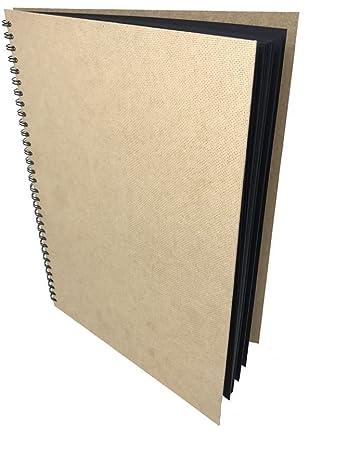 Artway Enviro - Cuaderno de cartulinas negras - 100 % reciclado - 270 gsm - 285