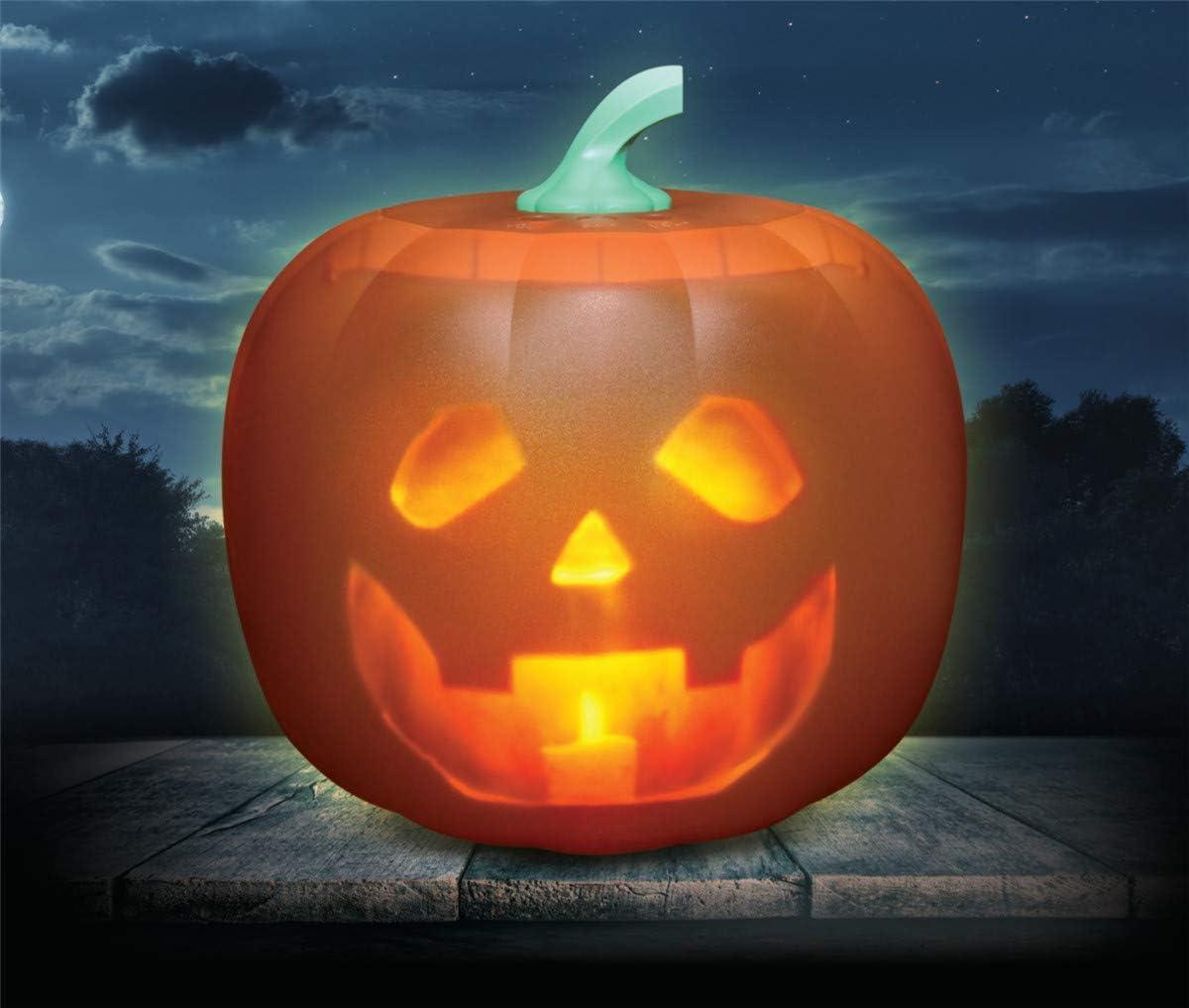 Halloween Reden Animated K/ürbis mit eingebautem Projektor und Lautsprecher Halloween-Flash-Reden Animated Led K/ürbis K/ürbis Led-Projektions-Lampe f/ür Zuhause-Partei
