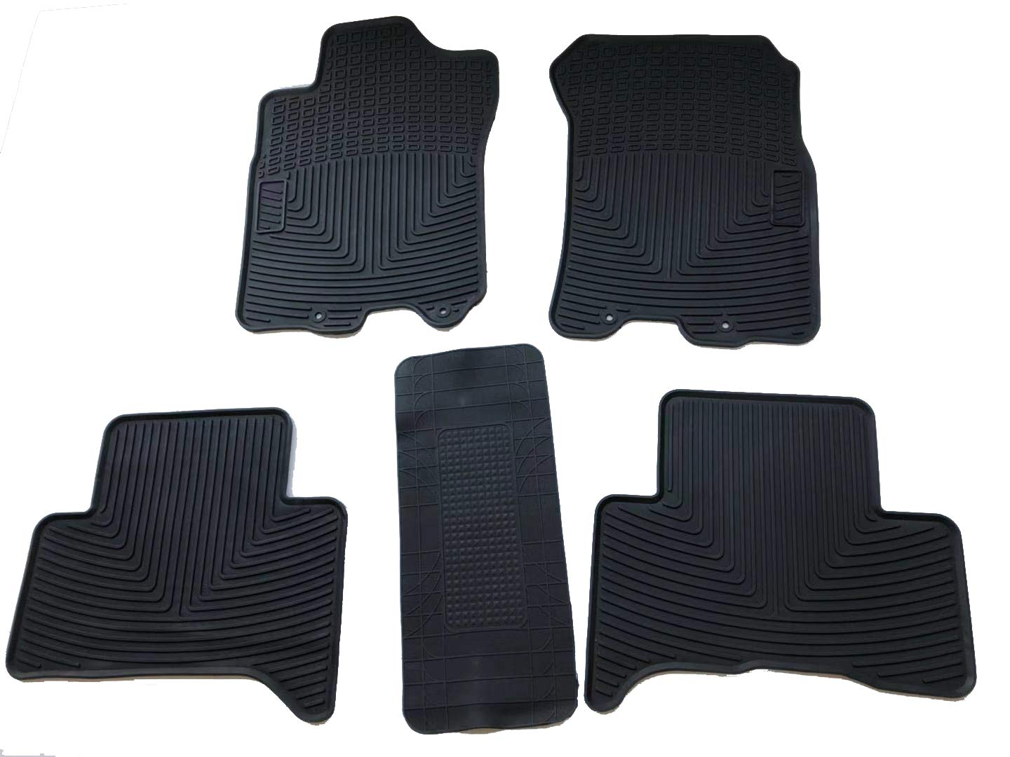 caartonn Rubber Floor Mats All Weather Heavy Duty Trunk Mats fit for Toyota FJ Cruiser 2010 2011 2012 2013 2014 2015 by caartonn