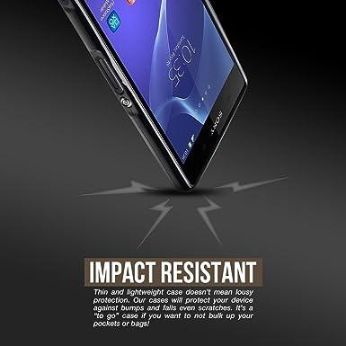 Amazon.com: cruzerlite – Carcasa para Sony Xperia Z3 – Negro ...