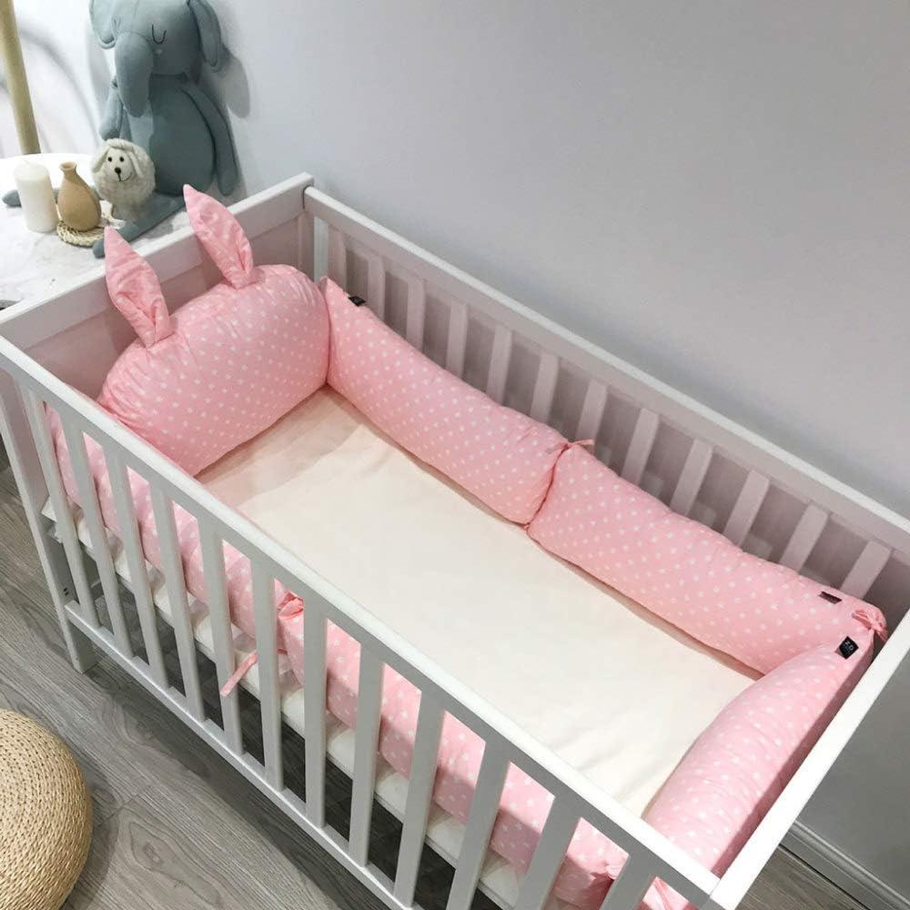 Bumper Para Cuna De Bebé Protección Envolvente Para La Cama Del Bebé Con Protector De Cabeza 100 Algodón Transpirable Furniture Decor