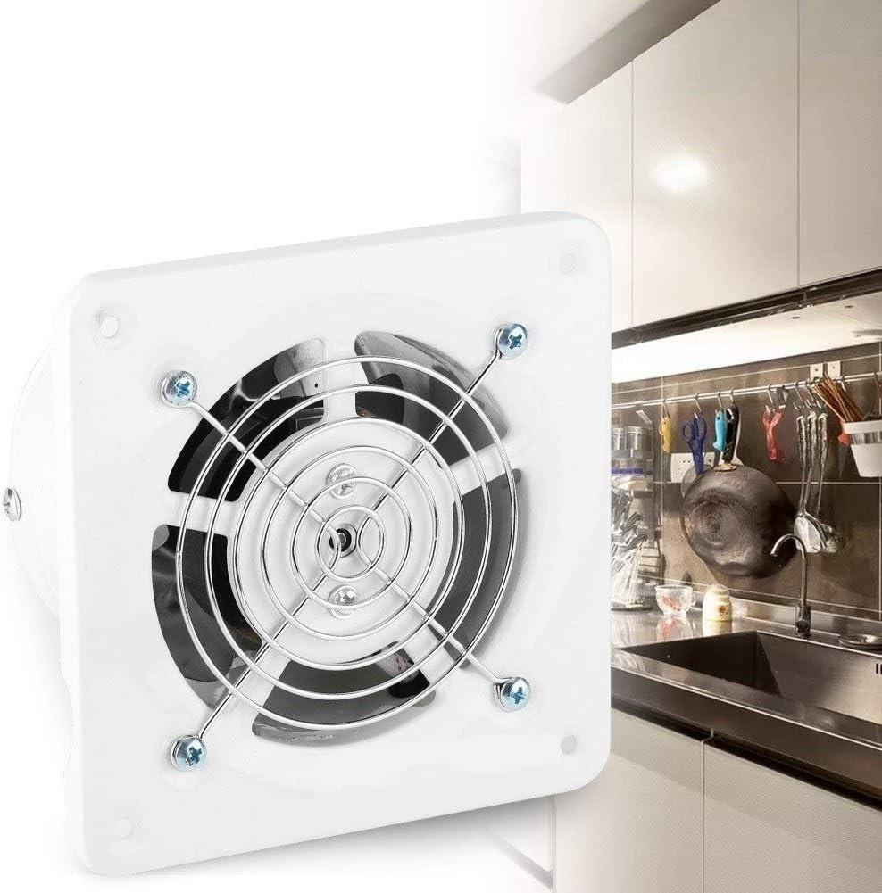 Eastbuy Ventiladores de aire para baño, 25 W, 220 V, montaje en la pared, bajo ruido, hogar, baño, cocina, ventilación de garaje