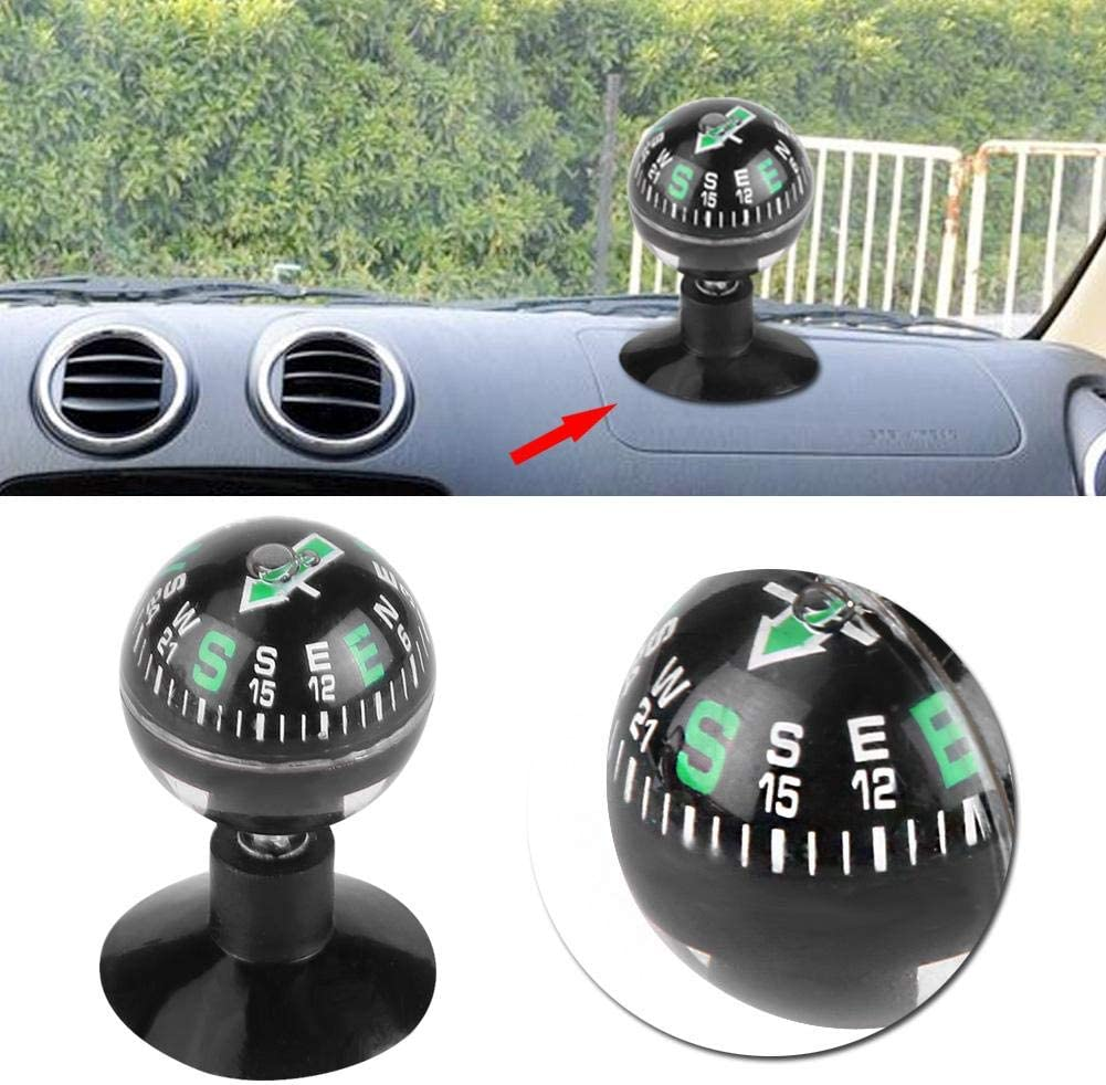 Mini Portable Compass,Car Boat Mini Dashboard Suction Mount Navigation Compass Pocket Hiking Direction Guide Ball Car Compass Navigation