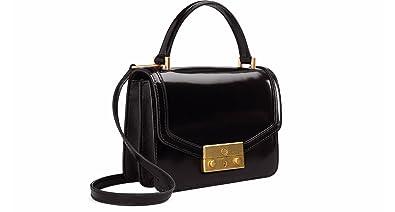 466076a7b81e Amazon.com  Tory Burch Juliette Mini Glossy Leather Crossbody ...