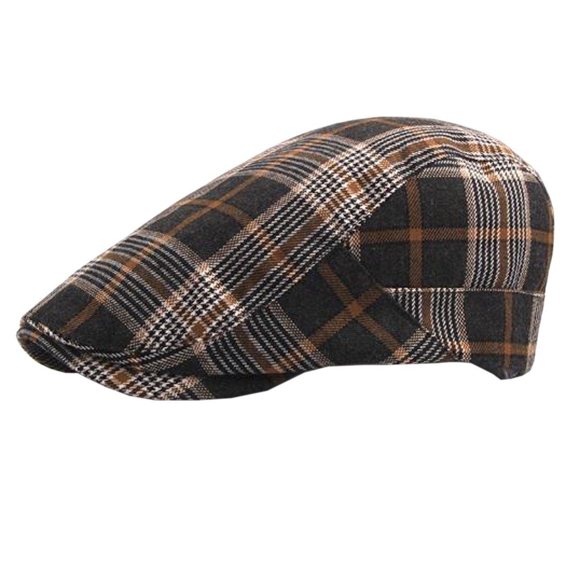 ACVIP Unisex Plaid Newsboy Ivy Cap Outdorr Duckbill Sun Hat