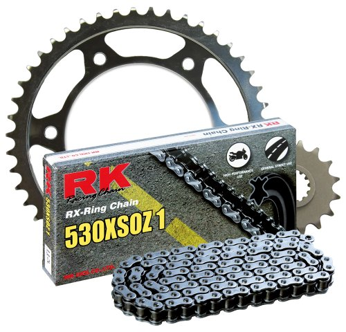 (RK Racing Chain 4067-030W Steel Rear Sprocket and 530XSOZ1 Chain 20,000 Mile Warranty Kit)
