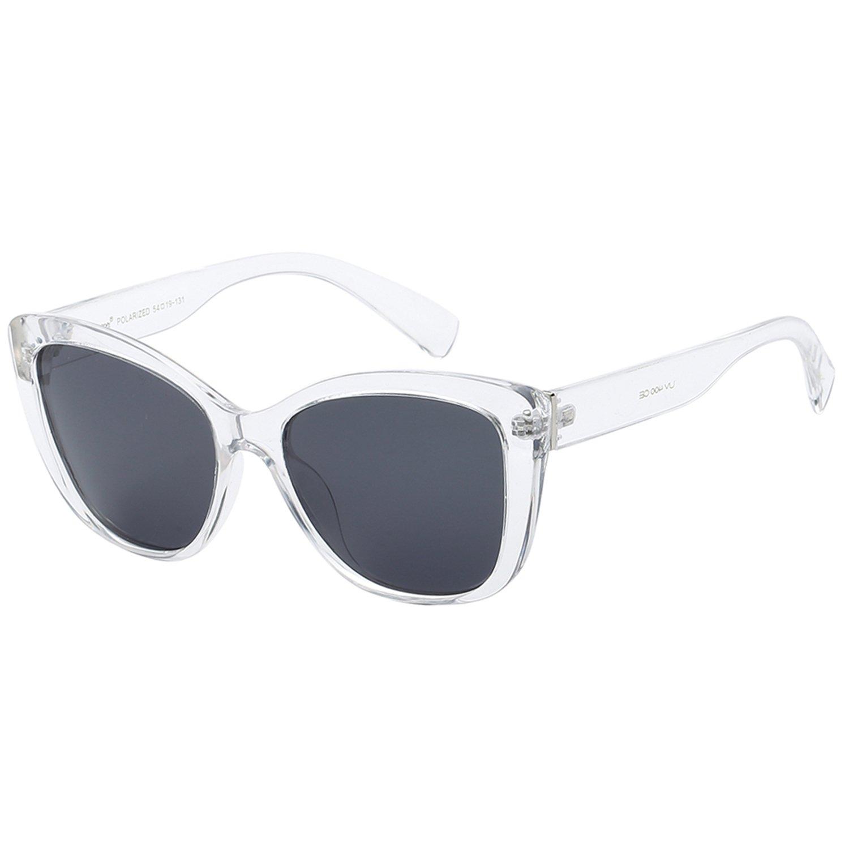 591624ea8a830 Polarspex Polarized Women s Vintage Square Jackie O Cat Eye Fashion  Sunglasses Smoke) PSX03 larger image