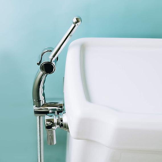 Hygi/ène personnelle Hand-Held Bidet Sprayer Acier inoxydable Portable Clean Bidet Toilet Taps Kit Pet Bath Closestool Squatting Pan Floor Cleaning Water Flower