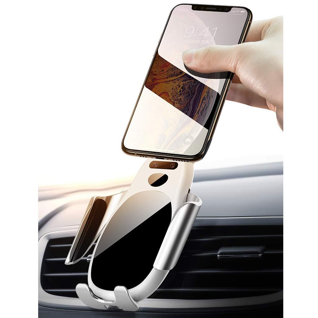 para iPhone X//XS//XR//8,Samsung S10//S9//S8 //S7 Carga Rapida Magnetico Soporte para Coche M/óVil Smartphone HMHD Cargador Inal/áMbrico Coche