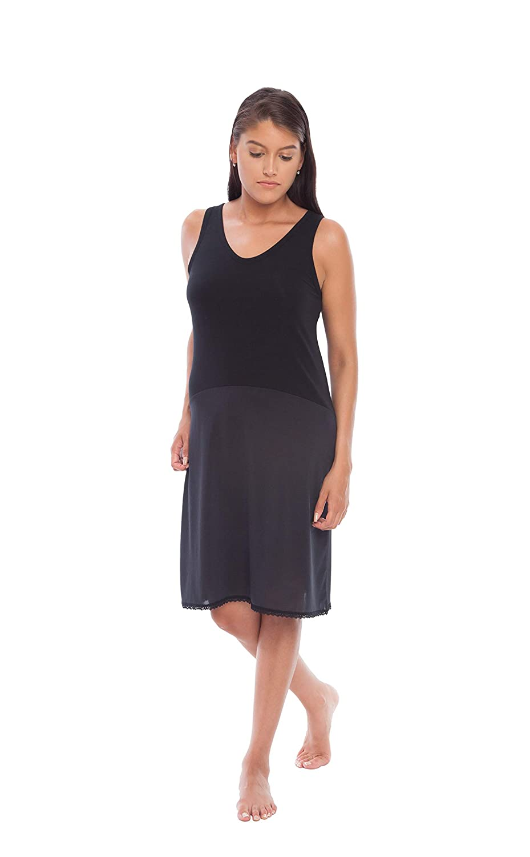 Cling Free # FK308 Gemsli Womens Comfort Reversible Cotton Top full Slip