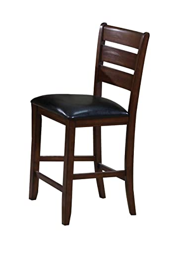 ACME 00682 Set Of 2 Urbana Counter Height Chair, Cherry Finish, 24 Inch