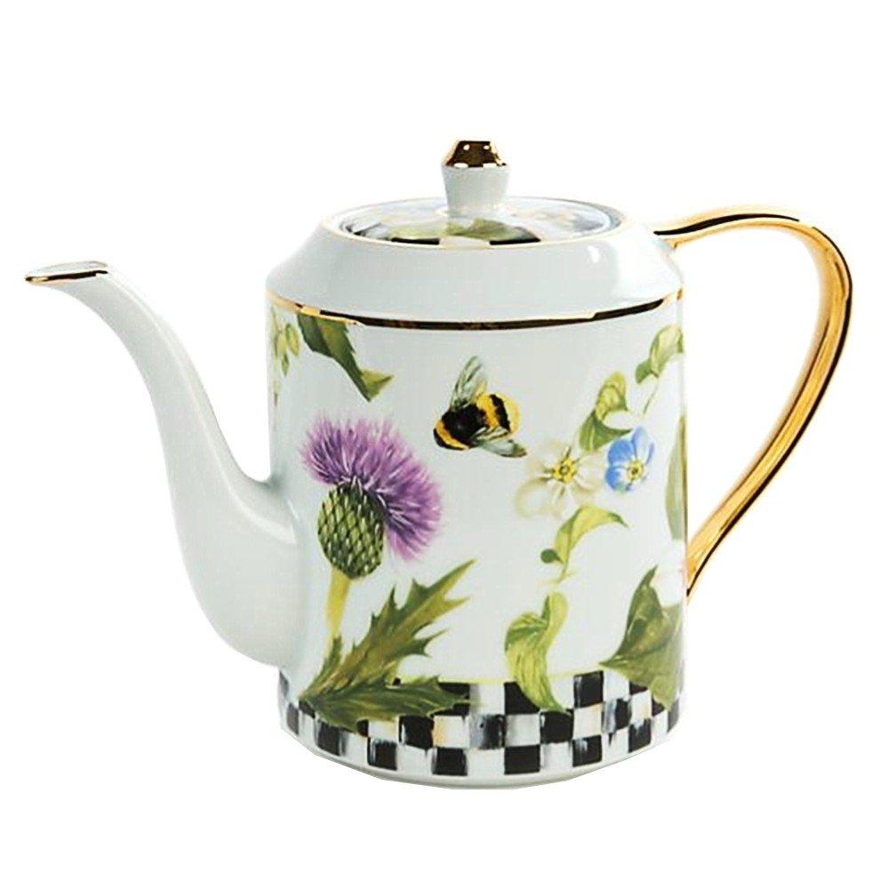 MacKenzie-Childs Thistle & Bee Teapot