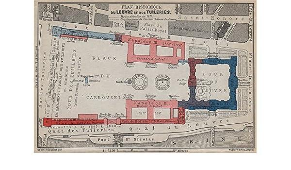 The Louvre Floor Plan | Amazon Com Louvre Tuileries Plan Historique Historic
