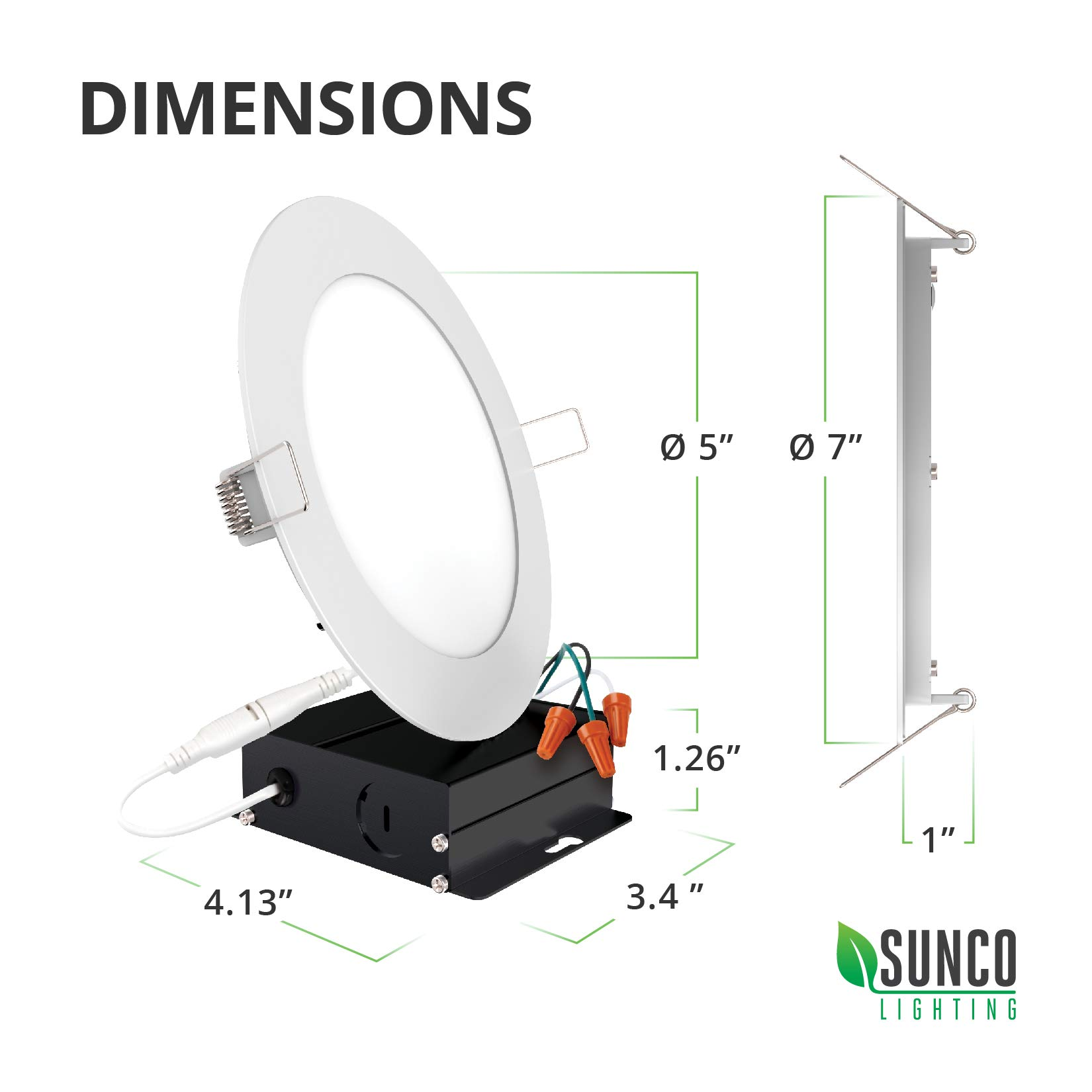 Sunco Lighting 12 Pack 6 Inch Slim LED Downlight with Junction Box, 14W=100W, 850 LM, Dimmable, 4000K Cool White, Recessed Jbox Fixture, Simple Retrofit Installation - ETL & Energy Star by Sunco Lighting (Image #10)