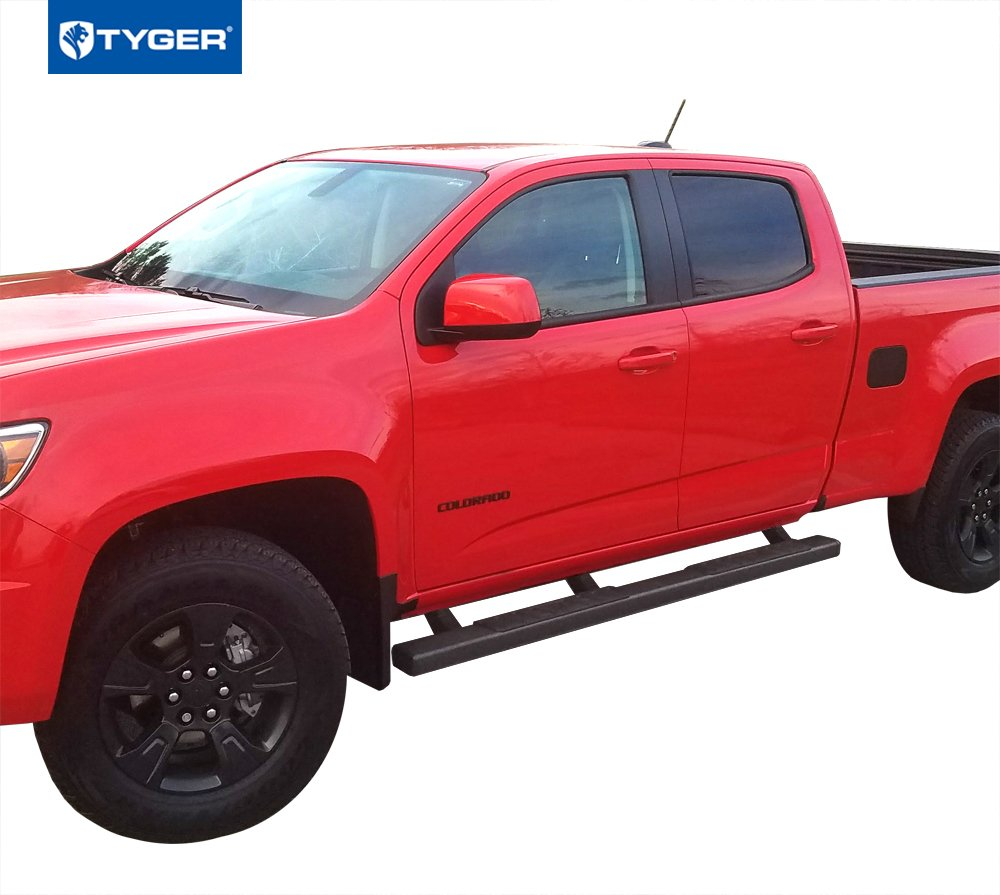 Tyger Auto TG-RS2C40018 Riser for 2015-2019 Chevy Colorado//GMC Canyon Crew Cab 4inch Black Side Step Nerf Bars Running Boards