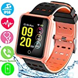 1.3'' TF2 HD Screen Sport Fitness Tracker with Blood Pressure Heart Rate Monitor IP68 Waterproof Pedometer Stopwatch Smartwatch for Kid Men Women Wristband Swim Run Travel Activity Tracker iOS Android