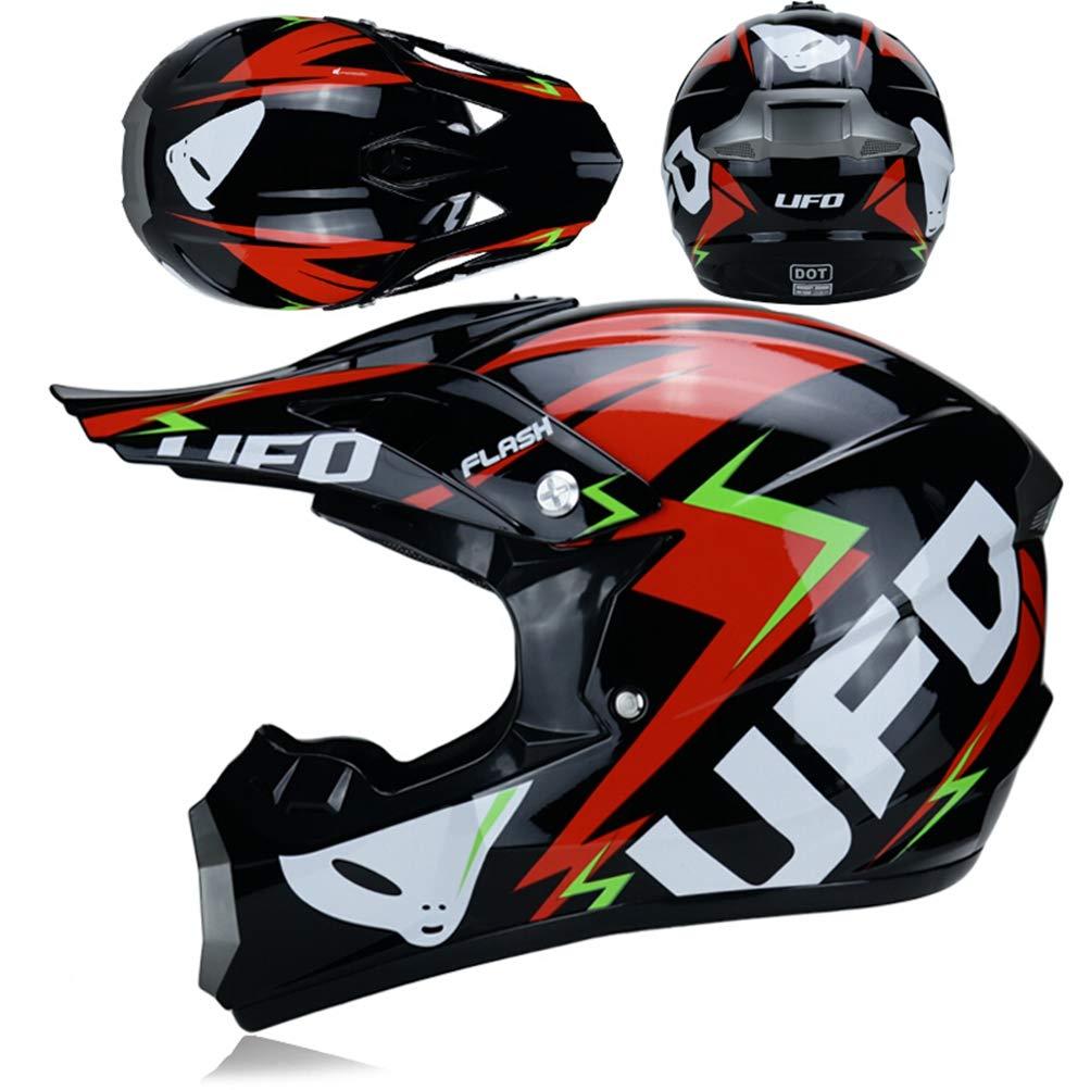 Erwachsene Full Face Cross-Country Motorrad Helm sto/ßfest Motorradhelme f/ür alle Jahreszeiten Motocross Racing Sicherheit Schutzkappen 24 Farben