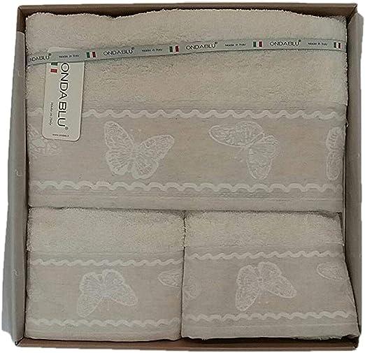 Juego toallas baño 5 piezas 100% algodón Made in Italy: Amazon.es ...