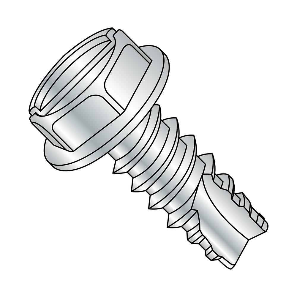 Hex Washer Head Zinc Plated Finish 1//4 Length Small Parts 06045SW #6-20 Thread Size Slotted Drive Type 25 Pack of 100 Steel Thread Cutting Screw 1//4 Length Pack of 100