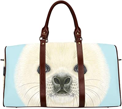 Travel Tote Luggage Weekender Duffle Bag Cute Pug Puppy Dog Large Canvas shoulder bag with Shoe Compartment