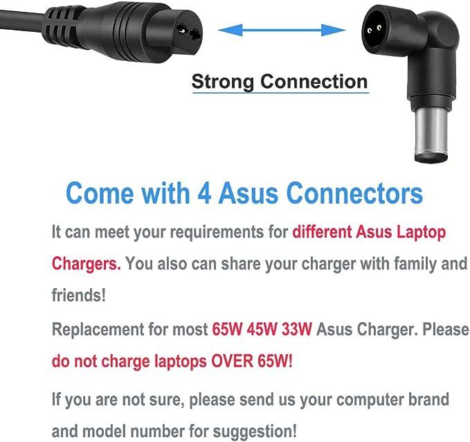 Amazon.com: Cargador para portátil Asus F555L X555L X551M ...