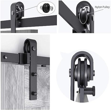 Yaheetech 200 cm Kit de Accesorios de Puertas Herraje para Puertas ...