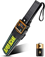 Small Handheld Metal Detector Security Wand Safety Bars,Portable Battery Powered Adjustable