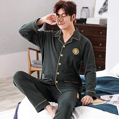 Pijamas para Hombres, otoño e Invierno, algodón, Tallas Grandes ...