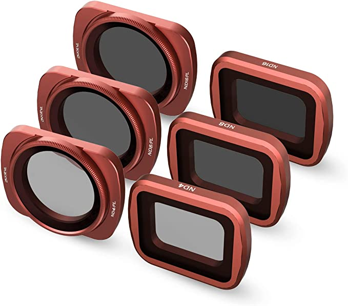 SKYREAT Ensemble de filtres pour DJI Mavic 2 Pro Filtres 3-Pack ND4PL, ND8PL, ND16PL