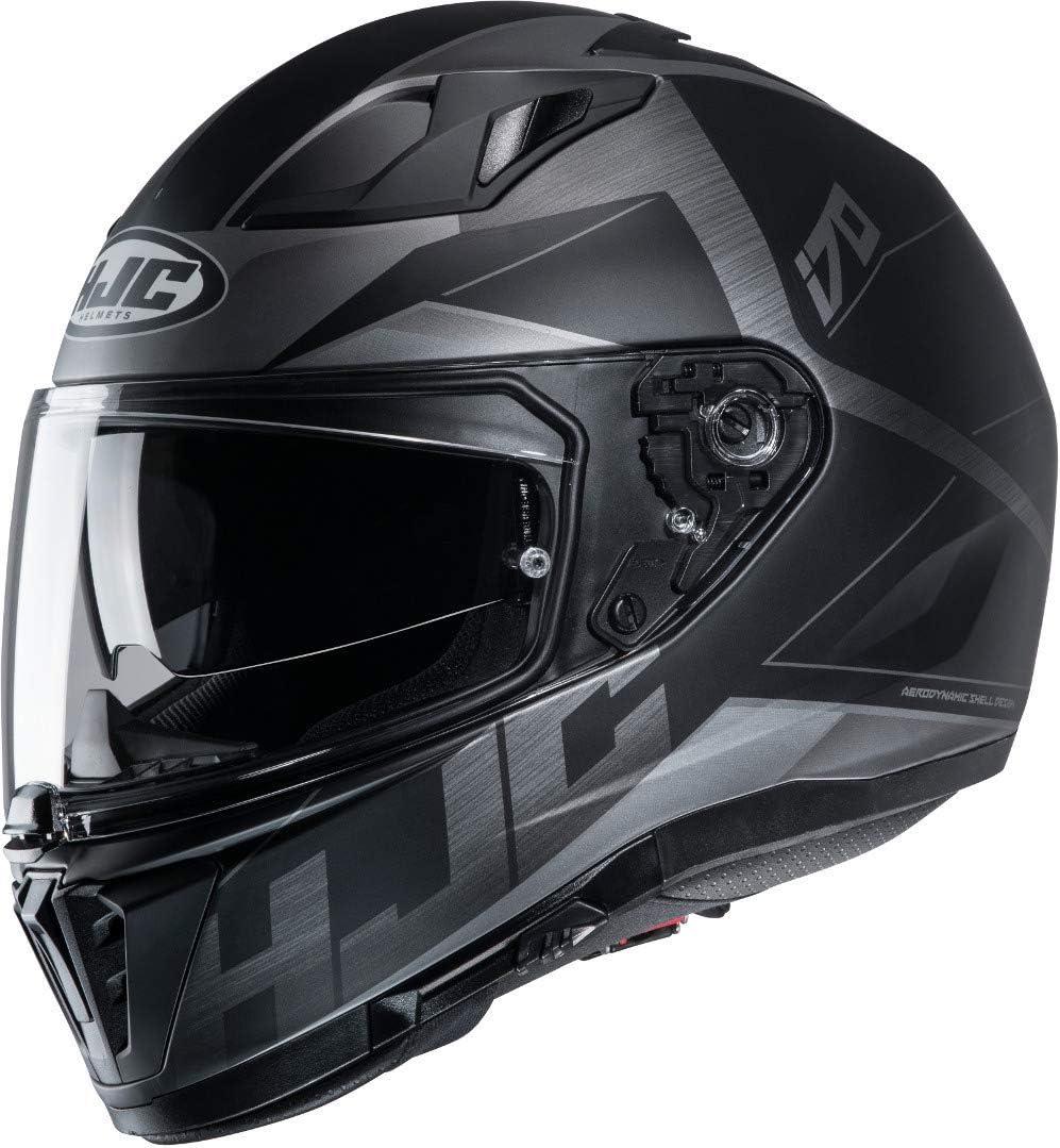 Hjc Helmets Herren Nc Motorrad Helm Schwarz L Auto