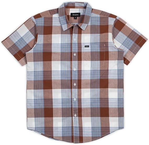 BRIXTON Charter S/S Wvn - Camisa de Botones Hombre: Amazon.es: Ropa y accesorios
