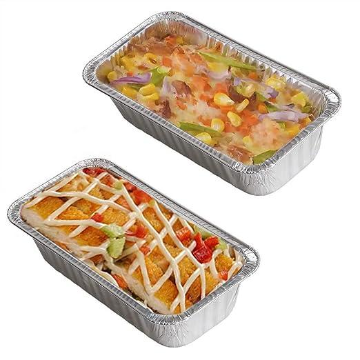 Recipiente rectangular de aluminio para alimentos, tamaño ...