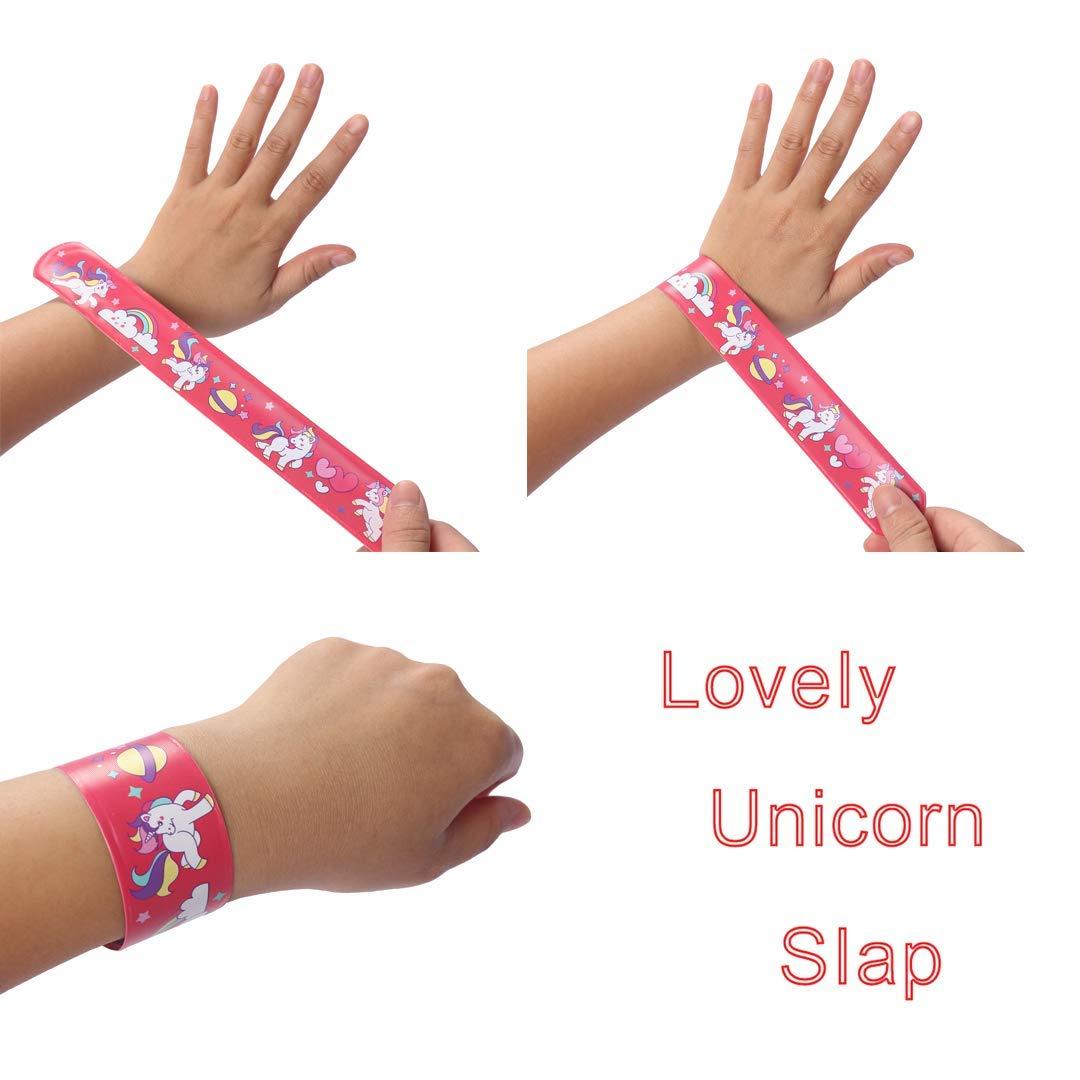 Bracelets /à Claquer Color/é Unicorn Snap Bracelets Licorne Slap Bracelets Bands Slap Bandes pour Enfant lanniversaire Faveurs Parti Classe R/écompenses ResPai 32 Pi/èces Unicorn Party Favors Supplies