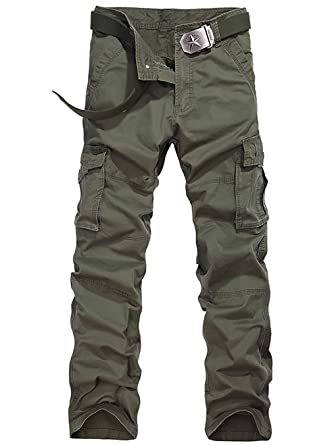 METERDE Men's Cotton Military Baggy Cargo Pants Trousers at Amazon ...