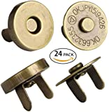 """Mini Skater 24 Sets Magnetic Button Clasp Snaps - Purses, Bags, Clothes - No Tools Required - Choose Small or Large Magnetic button size:18mm(6/8"""") (Gunmetal)"""