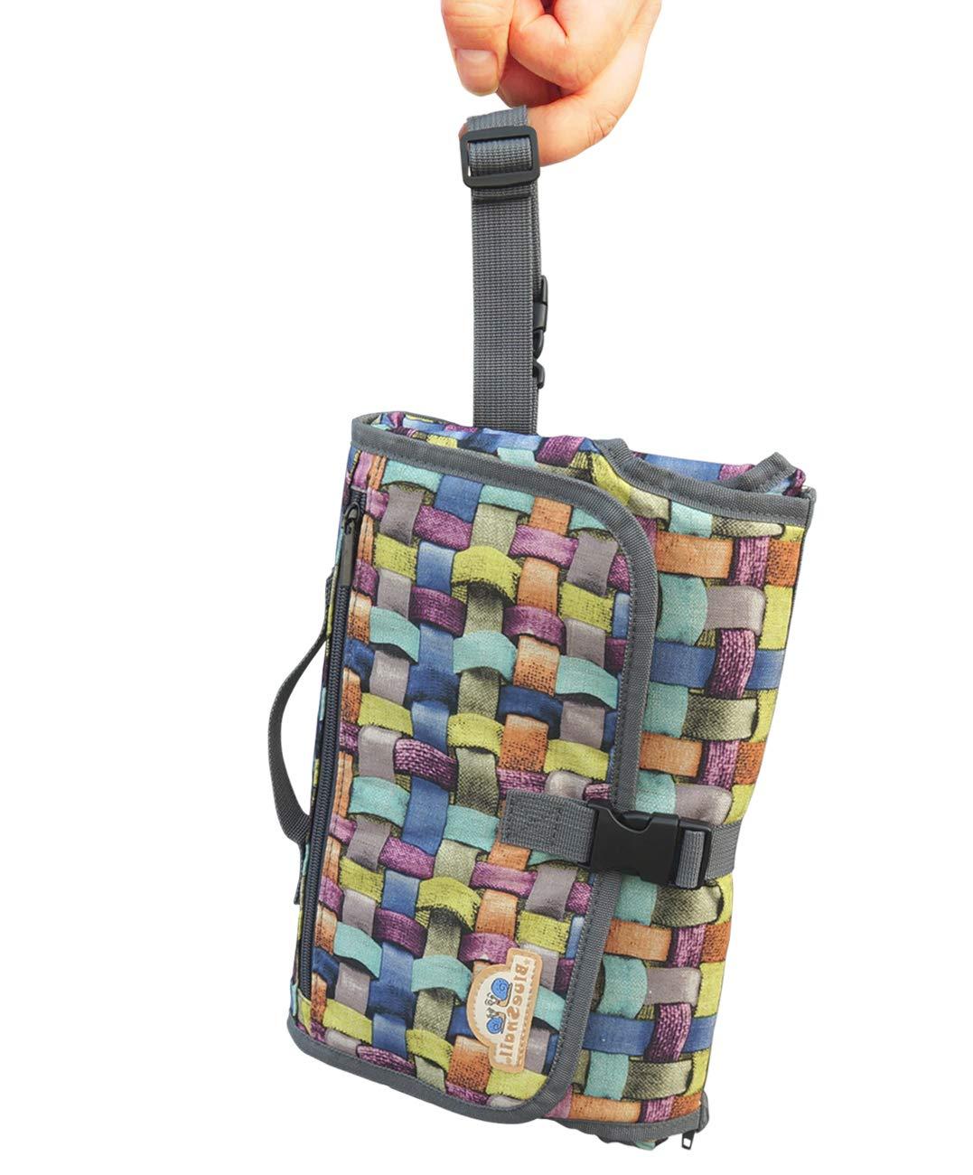 Wasserdicht Langlebig und Faltbare Wickelunterlage mit Abnehmbarer Tasche f/ür zu Hause und Unterwegs Tonsmile Tragbare Wickelunterlage