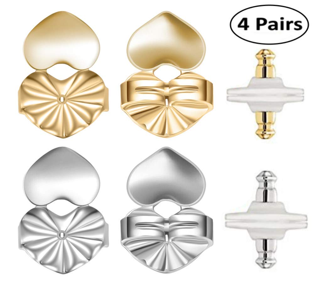 5a94fdb2a Earring Lifter Backs - 2 Pairs Earring Lifts (1 Pair of Sterling Silver and  1