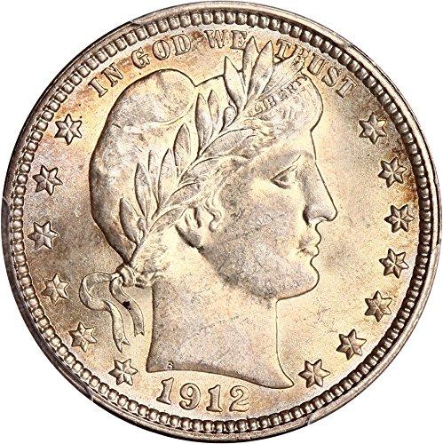 1912 P Barber Quarters Quarter MS64 PCGS (1912 Barber Quarter)
