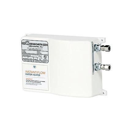 chronomite sr-30/277 htr 277-volt 30-amp sr series instant-flow standard  flow tankless water heater - - amazon com