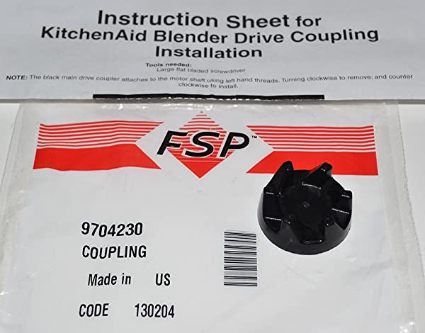 NEW PART 9704230 GENUINE FSP OEM FACTORY ORIGINAL BLENDER DRIVE COUPLING  FOR KITCHENAID AND WHIRLPOOL