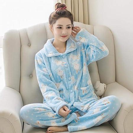JYLW Pijamas Invierno Mujer Conjunto De Traje De Pijama De ...