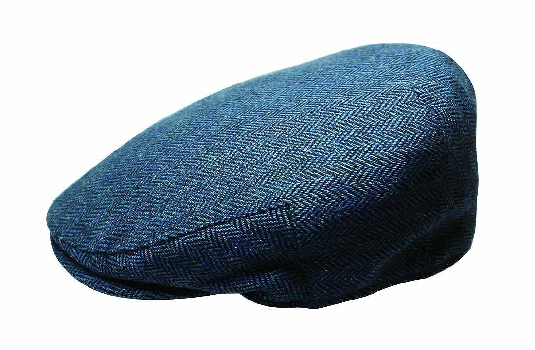 67711ea34 Quiet Man Collection Blue Herringbone Wool Cap Premium Quality