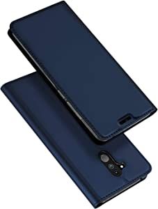 DUX DUCIS Funda Huawei Mate 20 Lite, PU Cuero Flip Folio Carcasa [Magnético] [Soporte Plegable] [Ranuras para Tarjetas] para Huawei Mate 20 Lite (Azul Marino)