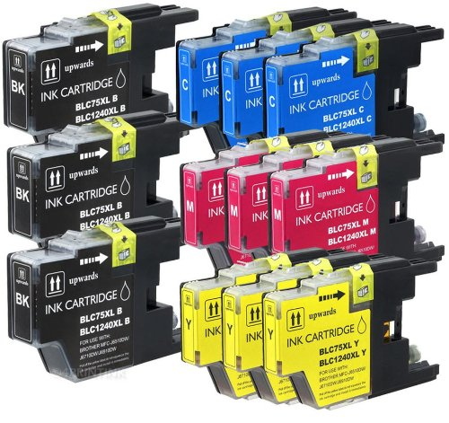 Price comparison product image Axiom 12Pack Remanufactured LC75 LC-75 Black And Color Ink Cartridge For Brother MFC-J280W MFC-J425W MFC-J430W MFC-J435W MFC-J625DW MFC-J6510DW MFC-J6710