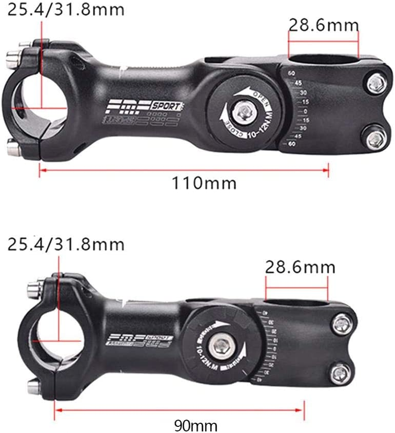 25.4//31.8mm Road Mountain Bike Stem Aluminum Alloy Bicycle Parts Cycling Accessories. Adjustable Bicycle Stem Riser