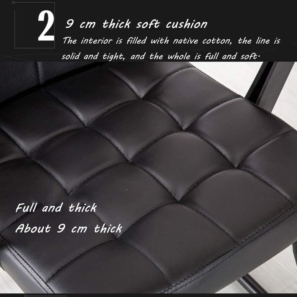 Barstolar verkställande stol, vadderad kudde PU-läder stol lyft rotation datorstol ergonomisk kontorsstol för kontor möte rum 360 grader vridbar (färg: Rosa) Rosa