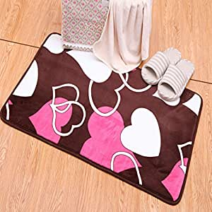 Door mat at the door/Bathroom door mat/floor mat/ the kitchen foot pad/Lobby floor mats/water-absorbing mat-D 60x90cm(24x35inch)