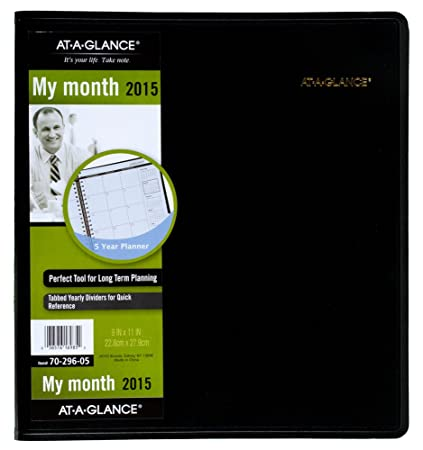 amazon com at a glance 5 year monthly planner 2015 9 x 11 inches